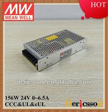 MEANWELL UL&CE 110V/220V Input 150W 24V 6.5A Single Output Switching Power Supply NES-150-24