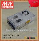 MEAN WELL UL&CE 110V/220V Input 350W 24V 14.6A Single Output Power Supply Unit NES-350-24