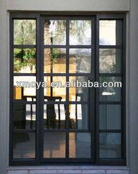 Modern house steel grill double doors design