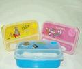 Neue tom und jerry lunch-boxen mit transparentem deckel und besteck