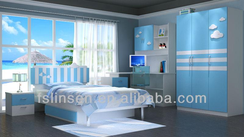 8839 colorful children bedroom sets modern melamine bedroom furniture