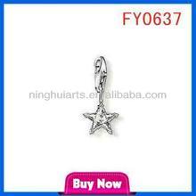 tiny star silver pendant thailand handmade jewelry whol pendant