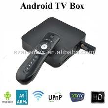 1 GB DDR Android 4.0 Mini PC ARM Cortex A9 1080P HD XBMC Internet TV with Remote DDR III 1GB 4GB Flash 3D