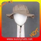 100% cotton wide brim fishing bucket safari hats - Khaki and Brown