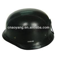 Half Face German Style Leather Coat Helmet