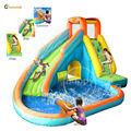 2014 nuevo diseño de diapositiva inflable del agua de la piscina y con cannon- 9117n tobogán del parque