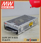 MW AC/DC 200W Switching Power Supply Single Output 24V 8.8A UL CUL NES-200-24