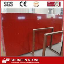 Red Shiny Quartz Countertops
