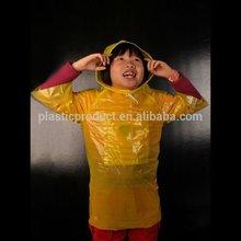 Kid Disposable plastic rain poncho