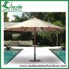 4m round indonesia wooden outdoor umbrella