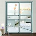 Barato de vidrio marco de aluminio puerta corredera