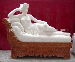 elegant sex girl stone statue