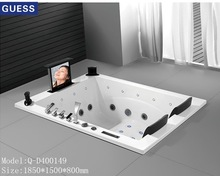 two people whirlpool tub/outdoor massage bathtub/Q-D40149