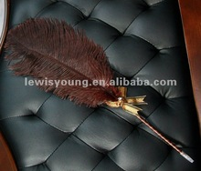 with diamond, ribbon,ostrich feather pen,feather quill pen