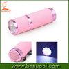 Hot Sell Rubber coat fluorescent aluminum 9led flashlight