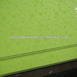 decorative high pressure compact laminates / embossed compact furniture panels / embossed flower formica sheets
