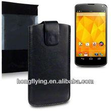 Pouch Leather case for LG Google Nexus4 E960