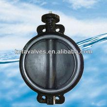 Rubber encapsulation disc butterfly valve