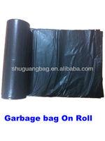 Large volume Plastic Black Garbage Bag for household
