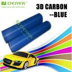 Derek 1.52*30m Blue Color Adhesive Film Carbon 3D Folie