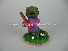 Cartoon style Crocodile guy fish tank ornaments of aquarium tank waterscape