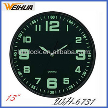 Lumious Wall Clock WH-6731 13 Inch Wall Clock With Special Design Dial Custom Clock Dials