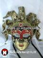 hechas a mano fábrica de papel mache máscara veneciana con polvo de brillo
