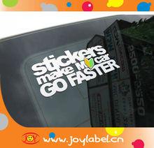 anti-uv pvc auto sticker stickers of car window decal