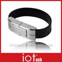 Promotional Marketing 2GB Leather USB Bracelet