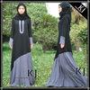 burshed linen color blocked muslim jilbab abaya