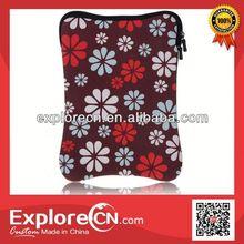 Full color printing flower laptop sleeve