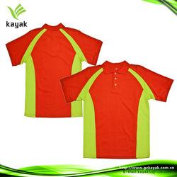 2014 custom fashion color conbination dry fit polo shirt design
