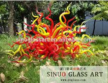 Modern Garden Decoration, Garden Statues, Blown Glass Sculpture