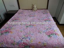 printed silk quilt