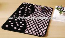 Washable polyester acrylic skidding proof Lace Bathroom Floor Rugs