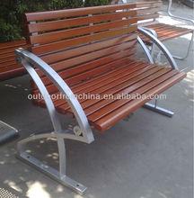 2015 weather resistant steel&/solid wood outdoor bench