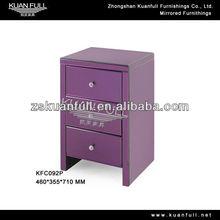 Fashion modern mirrored nightstand purple