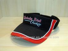 custom sun visor with piping