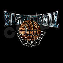 Rhinestone hotfix set shot rhinestone basketball
