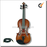 4/4 electric silent violin, Colorful Electric Violin With Case (VE102B)