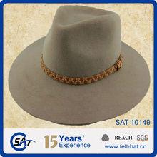sand 100% wool felt wide brim fedora hat fur felt hat