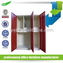 Metal wardrobe cabinet designs for bedroom with 3 doors