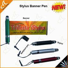 2013 New stylus flag pen,stylus banner pen,stylus pen with banner