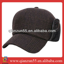 wholesale custom promotional corduroy with ear muff baseball caps
