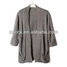 12STC0771 3/4 Sleeve womens 100% acrylic sweater