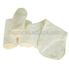 3 layers microfiber bamboo diaper cloth diaper insert for newborn