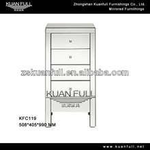 Hot selling modern mirrored tallboy chest with of drawer