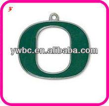 """O"" shape enamel university of Oregon Ducks school letter pendant charms"