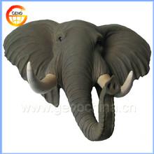 Elephant head interior wall stone decoration for home