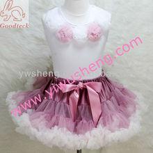 Pettiskirt, girls rosette top and fluffy petticoat,flower girl dress